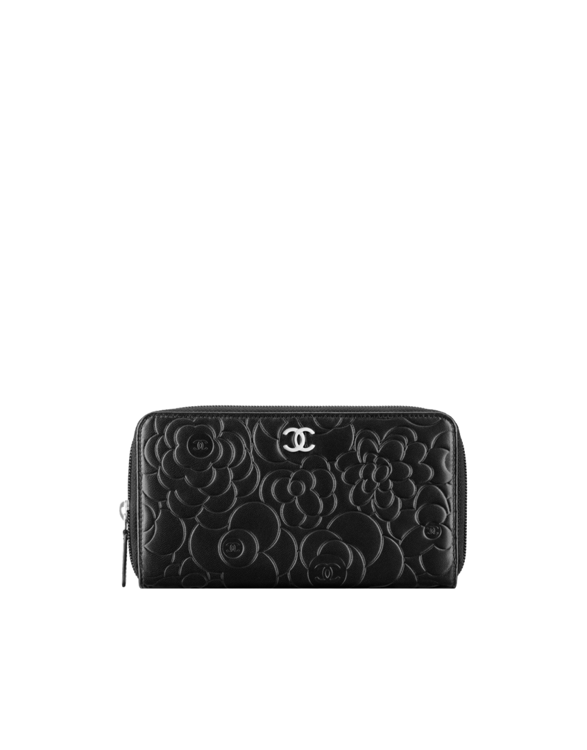 0338f11b Zip wallet in camellia-embossed... - CHANEL | Gifts in 2019 | Chanel ...