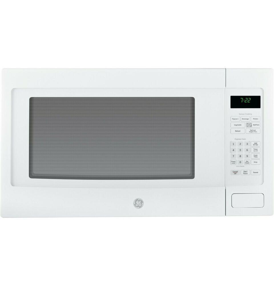 Ge Peb7226dfww Profile Series 2 2 Cu Ft Countertop Microwave