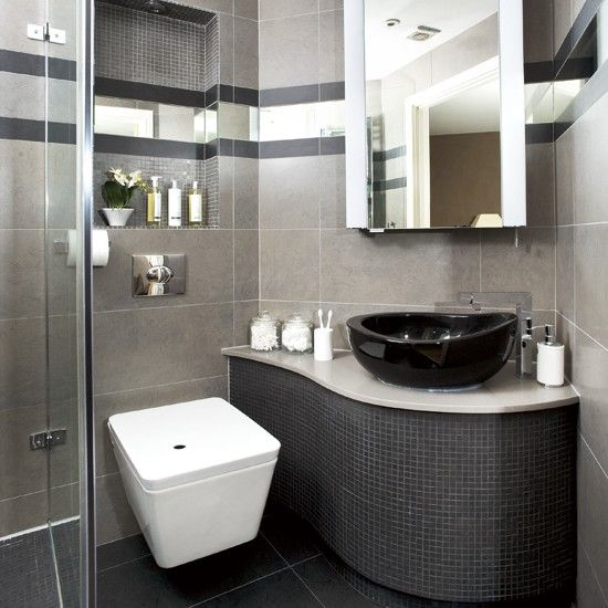 Modern bathroom example | Bathroom | Pinterest | Small bathroom ...