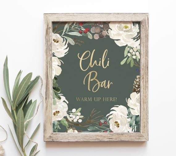Christmas Party Chili Bar Sign - Winter Chili Bar Printable - Warm Up Here Sign - Holiday Party Chili Bar Table Sign - Winter Party Sign #chilibar Christmas Party Chili Bar Sign - Winter Party Decor - Digital Download - 8x10 printable *Digital Files Only, no physical items will be mailed >>>>>>>>>>>>>>>>>>>>>>>