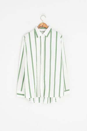 Pin Stripe Shirt, Green