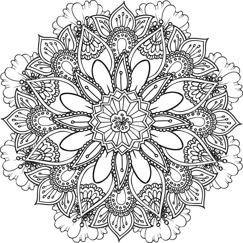 Retrouvez deux nouveaux coloriages des mandalas floraux - Coloriage a imprimer mandala ...