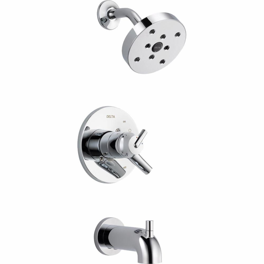 Delta Trinsic 1 Handle Wall Mount Tub And Shower Faucet Trim Kit