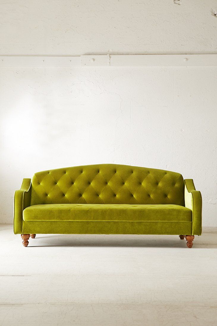 Bon Ava Velvet Tufted Sleeper Sofa   Urban Outfitters