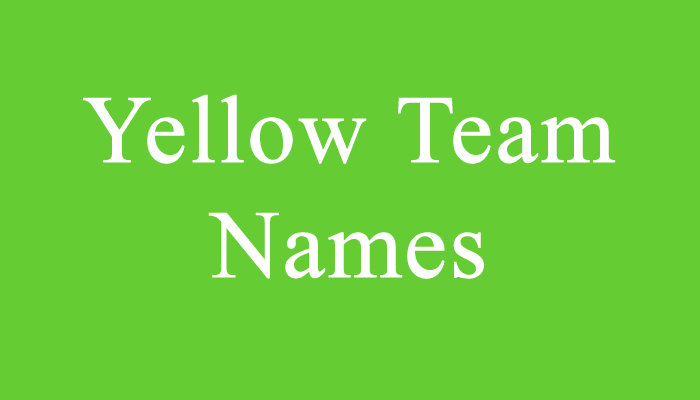 Check out Yellow Team Names | Dr Odd | Team names, Best team