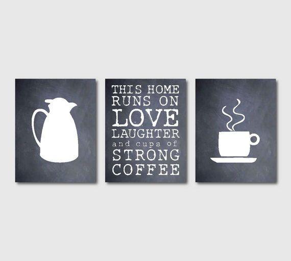 Kitchen Wall Art Set of Three 8 x 10 by SusanNewberryDesigns