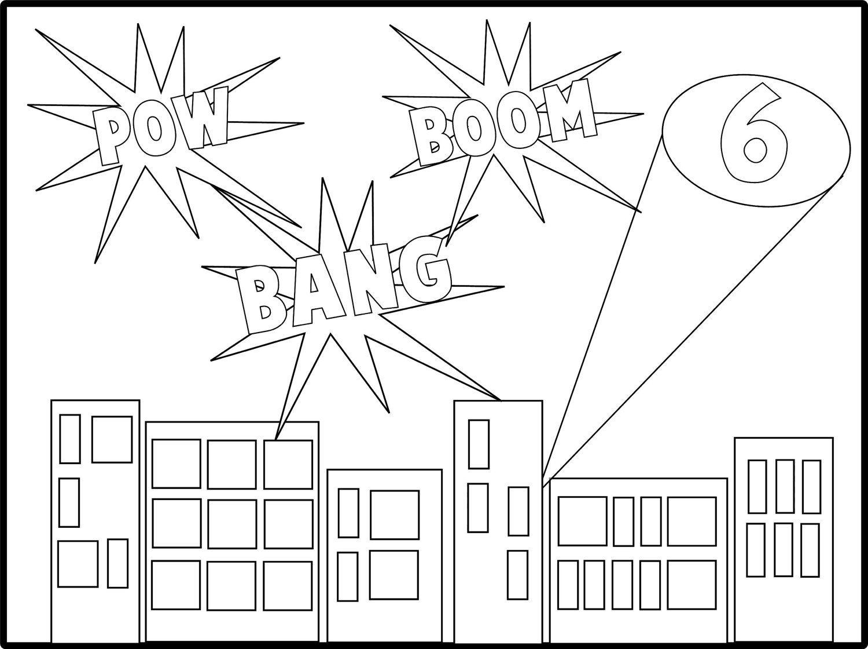 Digital Superhero Custom Coloring Sheet From Let S Party