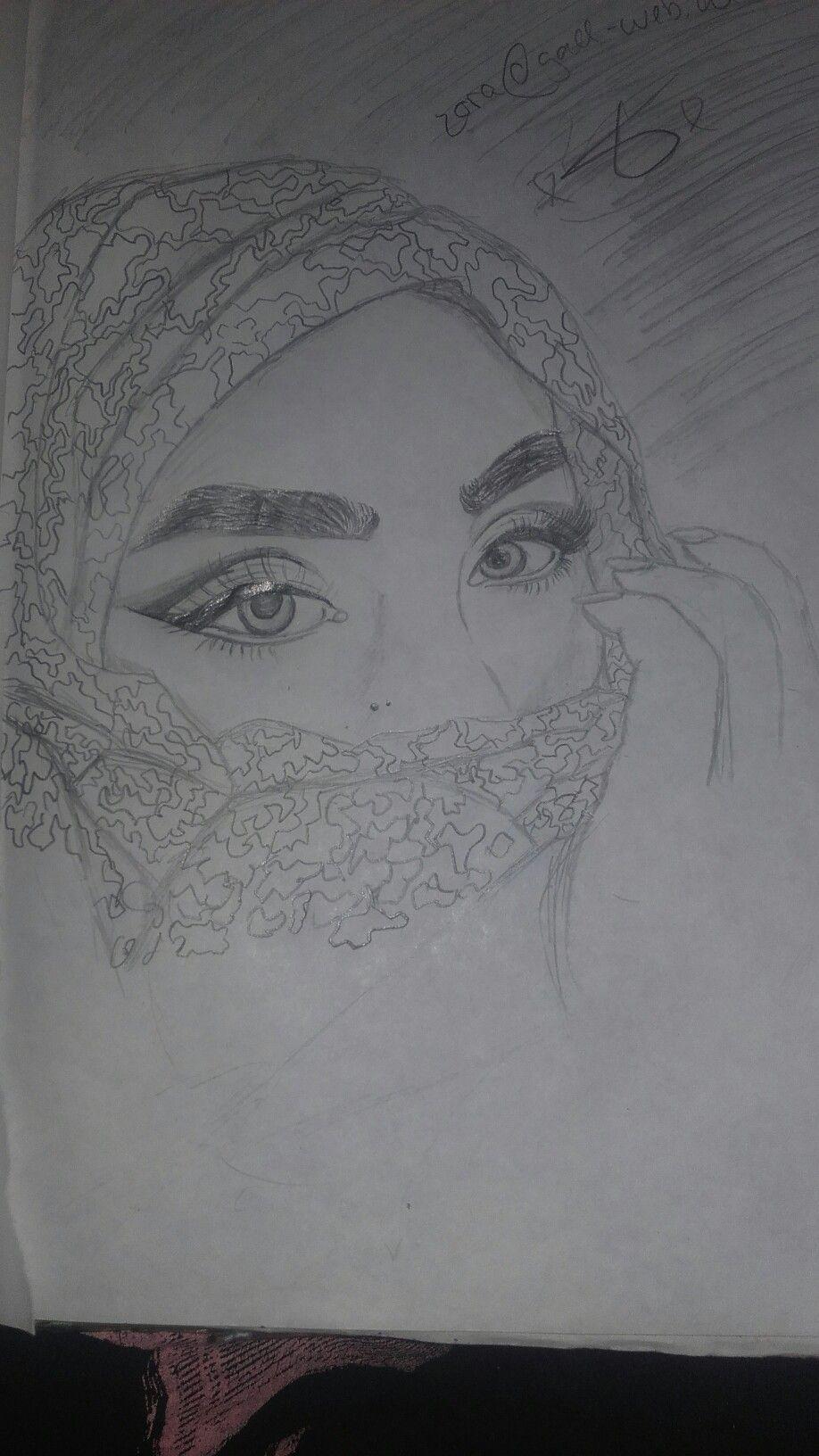 Madchen Mit Kopftuch Gezeichnet Made By Zora Zeichnen Kopftuch