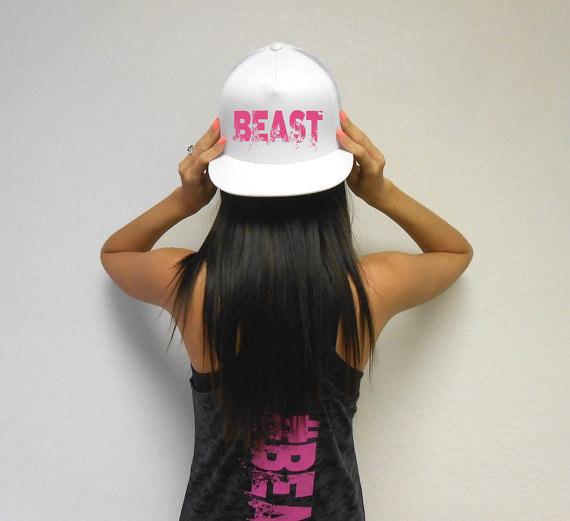BEAST Hat. Beast Workout Snapback Hat. Flat Bill Cap. Snapback Hat ... c5e679fa0ea