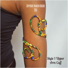 African Print Ankara Upper Arm Cuff, Armlet, Arm Band, Upper Arm Jewelry - One Size Fits Most #afrikanischerstil
