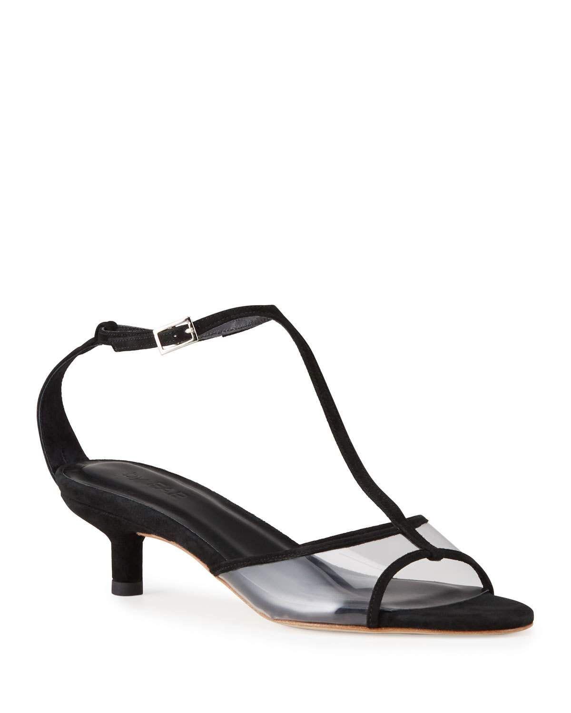 By Far Baby 45mm Kitten Heel T Strap Sandals Byfar Shoes In 2020 Kitten Heels T Strap Sandals Heels