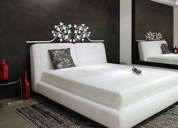Sticker t te de lit ornementale stickers tete de lit d coration de chambre - Tete de lit en forme de coeur ...