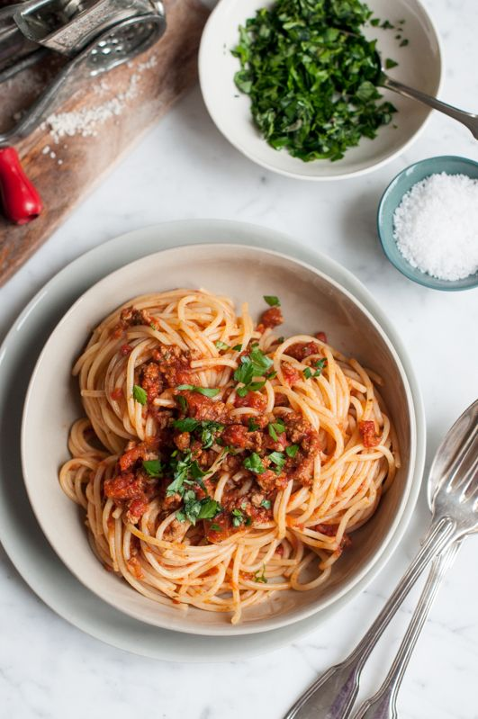 Spaghetti Bolognese Opskrift Madopskrifter Opskrifter