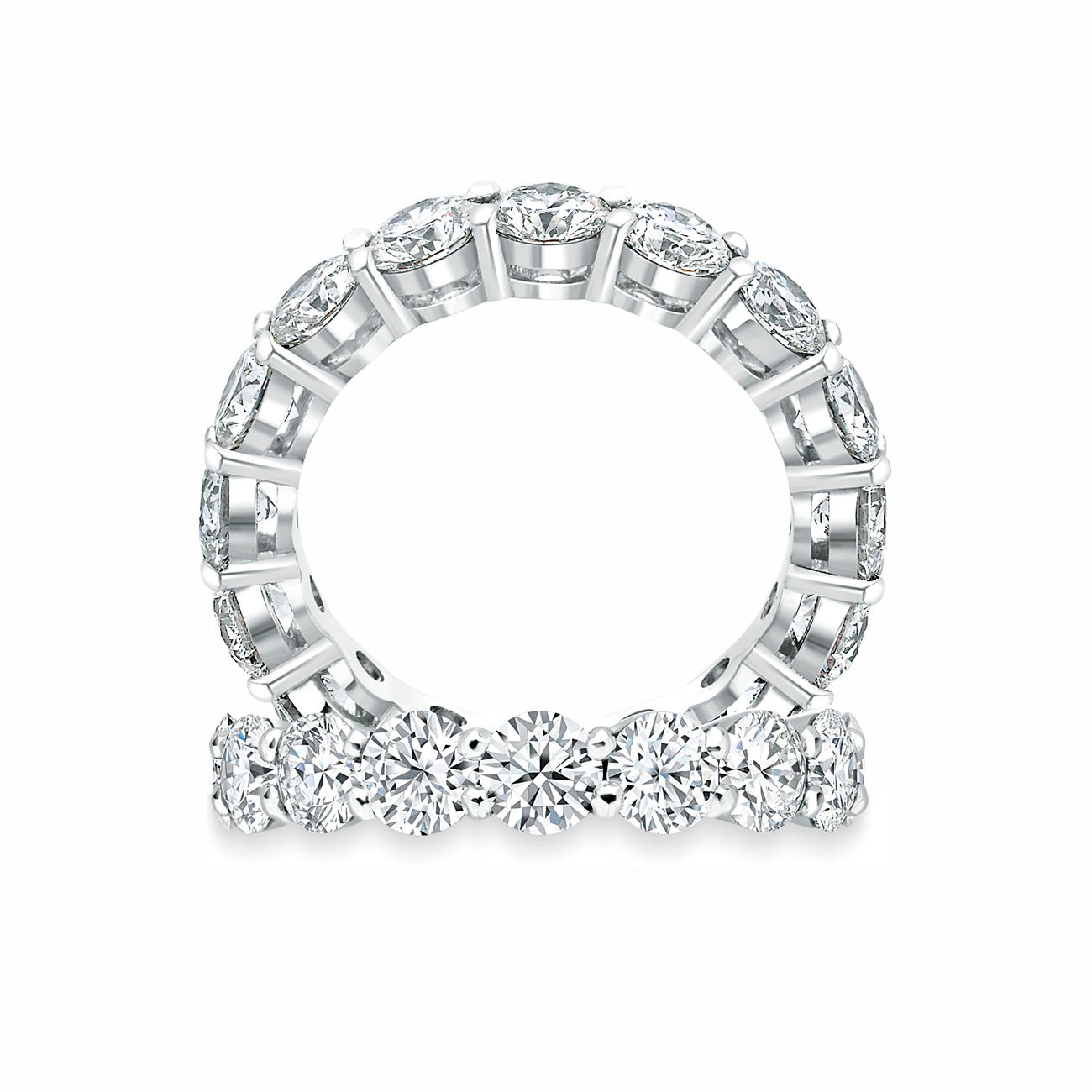 While the more unusual cuts of diamonds have been gathering momentum - Paul Bram Full Circle Ring Magnificent Brilliant Cut Celebration Ring With Diamonds Claw Set