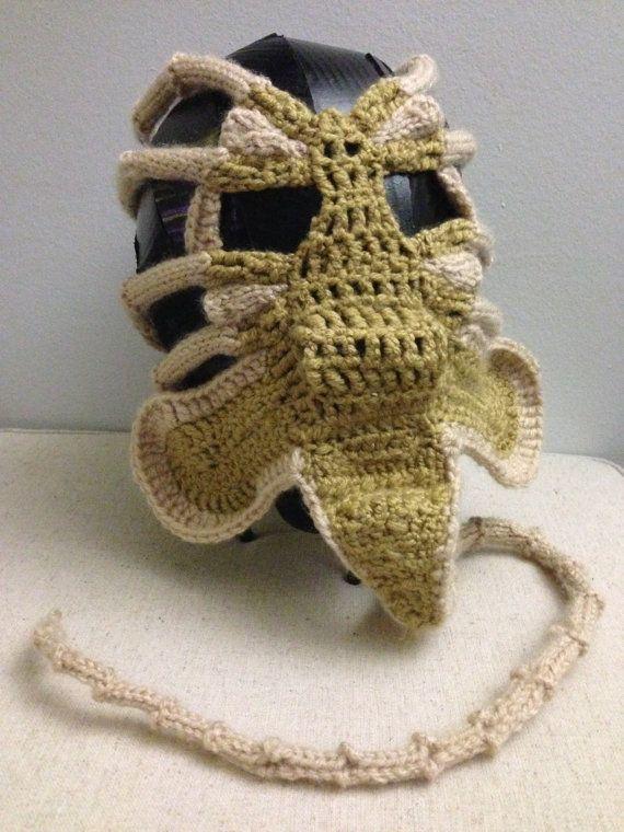 Xenomorph Alien Facehugger Face Warmer Pdf Patern Yarnyarnyarn