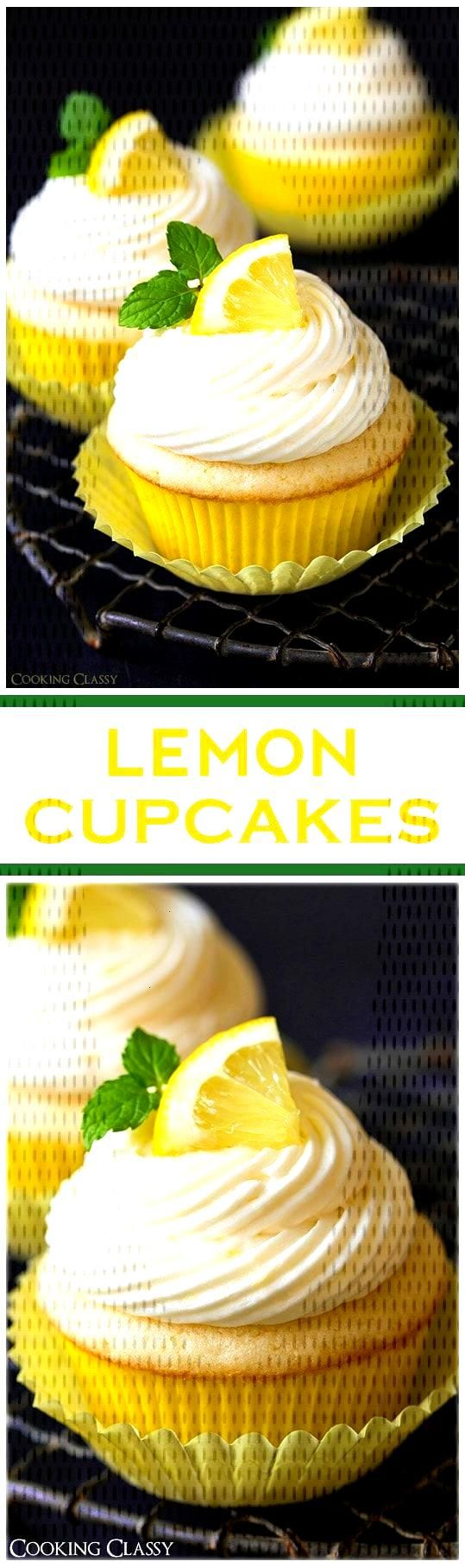 These Lemon Cupcakes with Lemon Buttercream are packed with fresh lemon flavor! Theyre the perfect