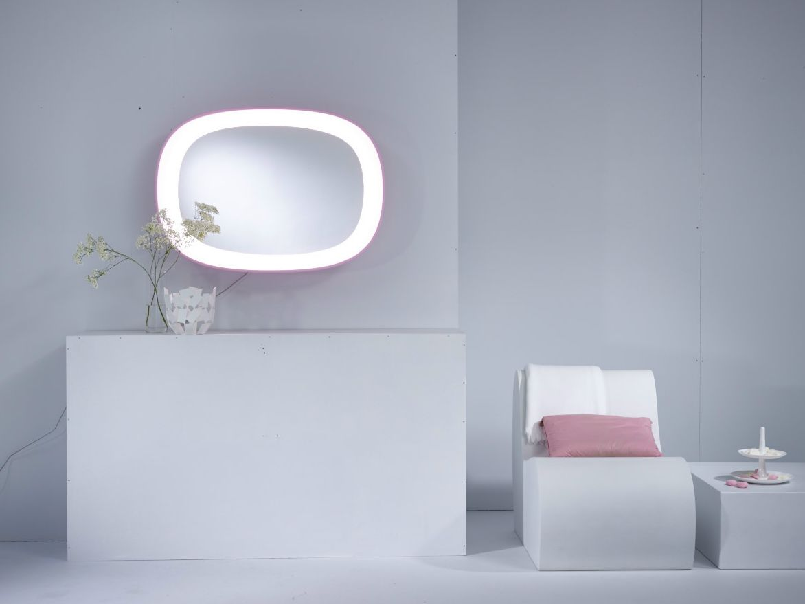 Scoop Miroir Avec Clairage Int Gr By Reflect By Deknudt Mirrors