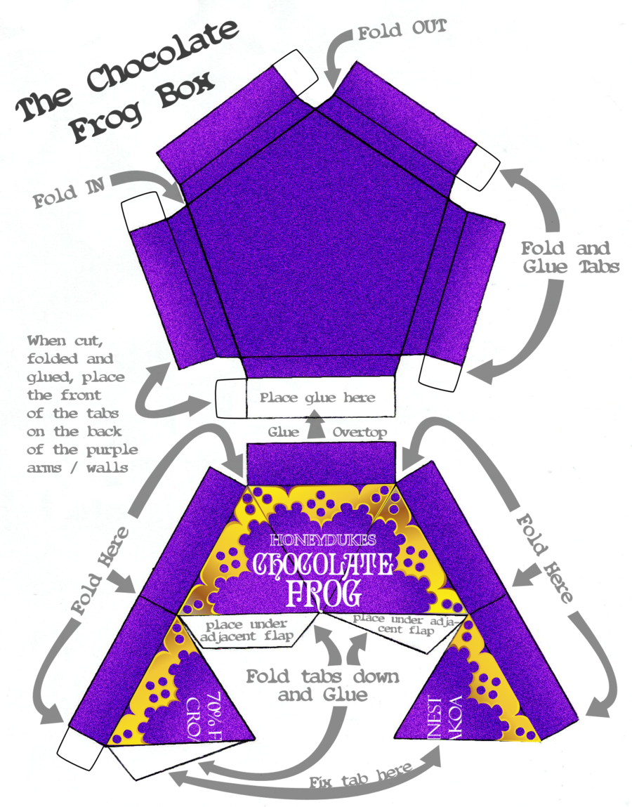 chocolate frog packets frogs box templates and harry potter. Black Bedroom Furniture Sets. Home Design Ideas