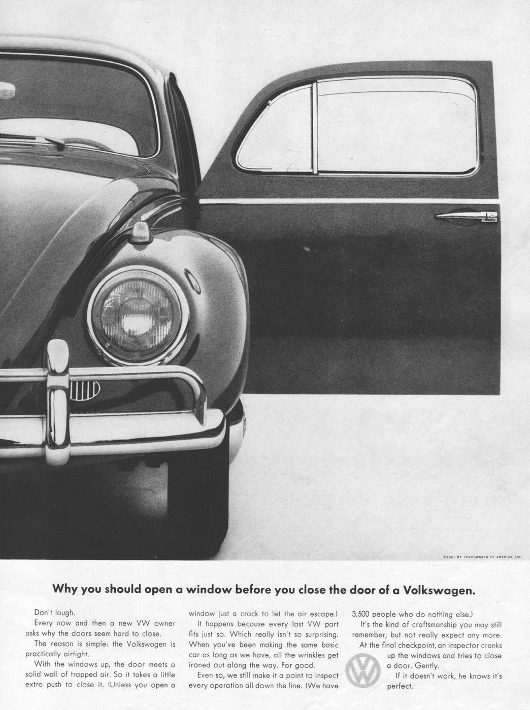 Vw Bug Airtight 1961 Ad Picture Volkswagonclassiccars Volkswagen Anuncios Vintage Vw Fusca