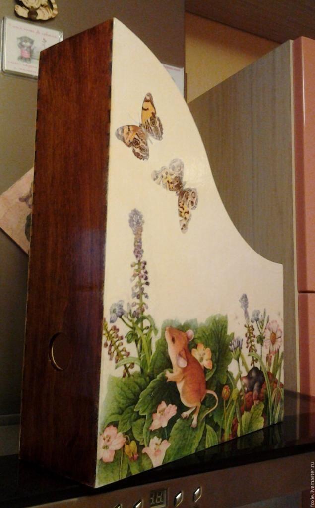 """Мастер -класс по созданию журнальницы """"Мышата в цветах"""" - Ярмарка Мастеров - ручная работа, handmade"""
