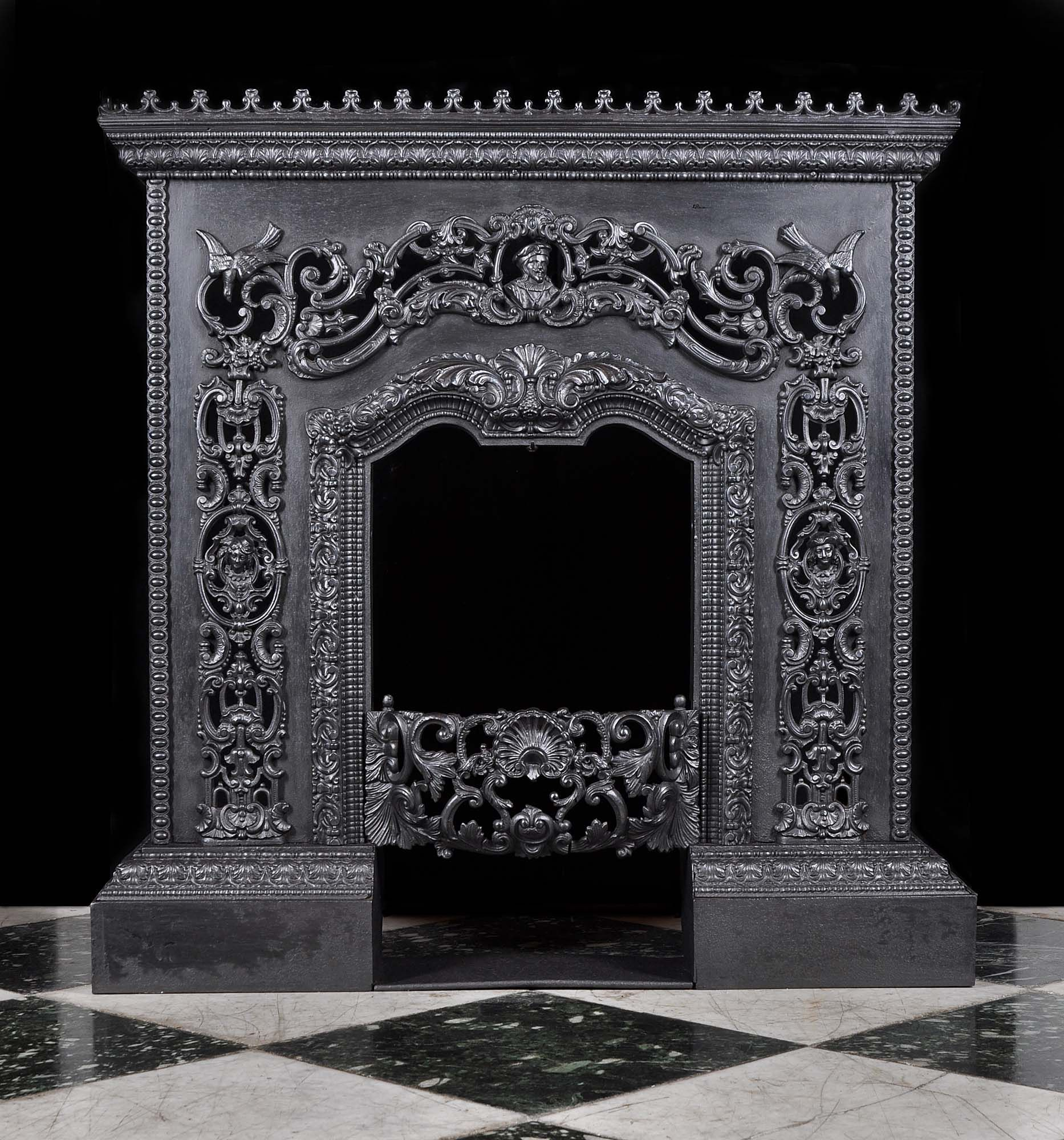 Cast Iron Fireplace In The French Italian Renaissance Style With