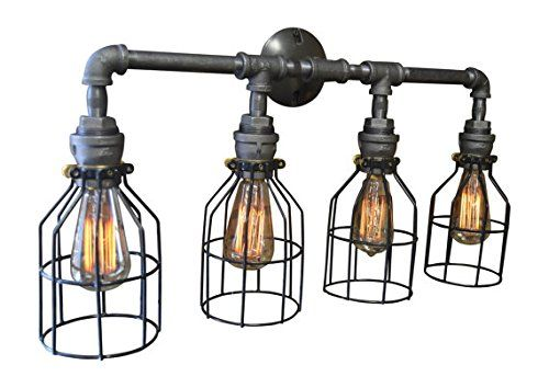 $175  Vanity Light Steel  Httpbitly2Askihh  Handmade In Impressive Industrial Bathroom Light Fixtures Design Ideas