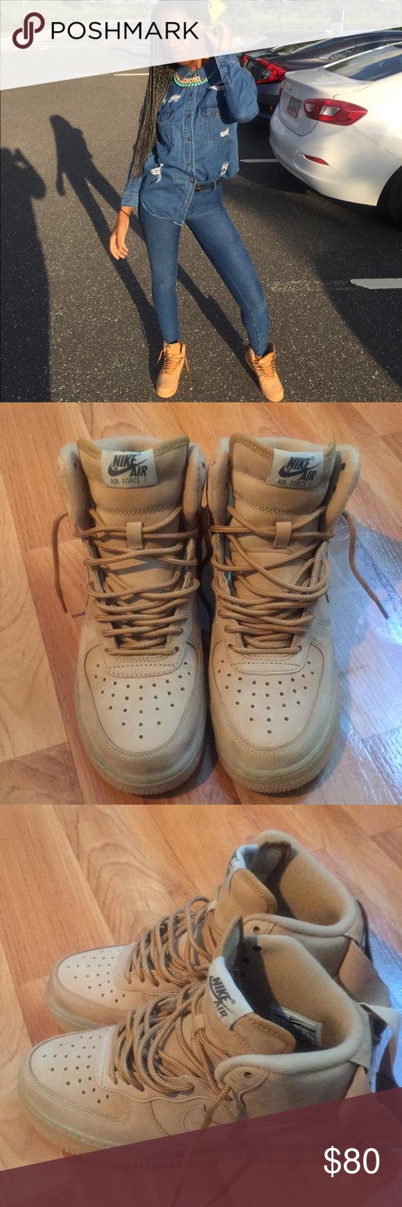NIKE AIR FORCE 1 LOW WINTER PREMIUM GS WHEAT Nike air force 1 lady's sneakers 943,312 200 beige [228 Shinnyu load]