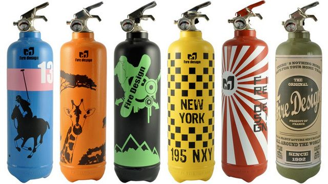 Designer Fire Extinguishers Are A Property Saving Fashion Accessory Fire Extinguisher Fire Extinguishers Extinguisher