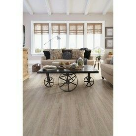 Stainmaster 10 Piece 5 74 In X 47 Washed Oak Cottage Gray Floating Luxury Vinyl Plank Commercial