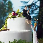 """Wedding Favors & Party Supplies - Favors and Flowers :: Wedding Essentials :: Wedding Cake Toppers :: """"Hooked On Love"""" Groom Figurine"""