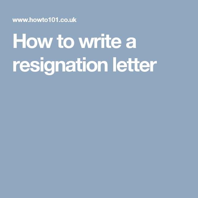 How To Write A Resignation Letter Profesh Resignation Letter