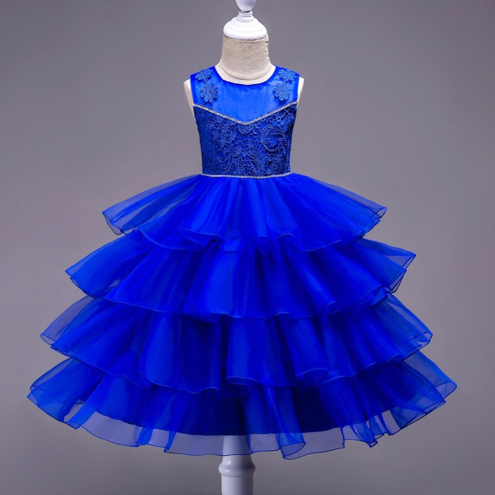 New kids princess holiday formal party dress flower girl costume