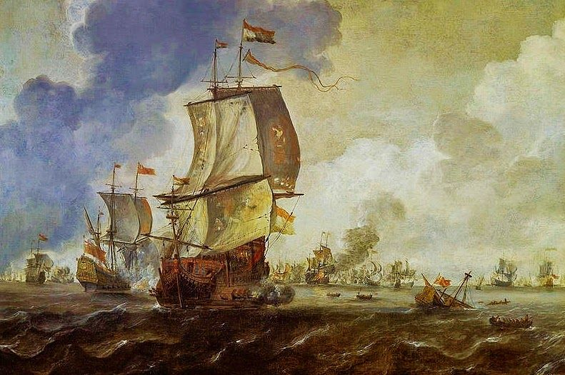 Dutch Master Paintings: Battle Of The First Dutch War