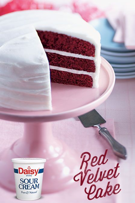 Daisy Sour Cream Red Velvet Cake Recipe Daisy Sour Cream Velvet Cake Sour Cream