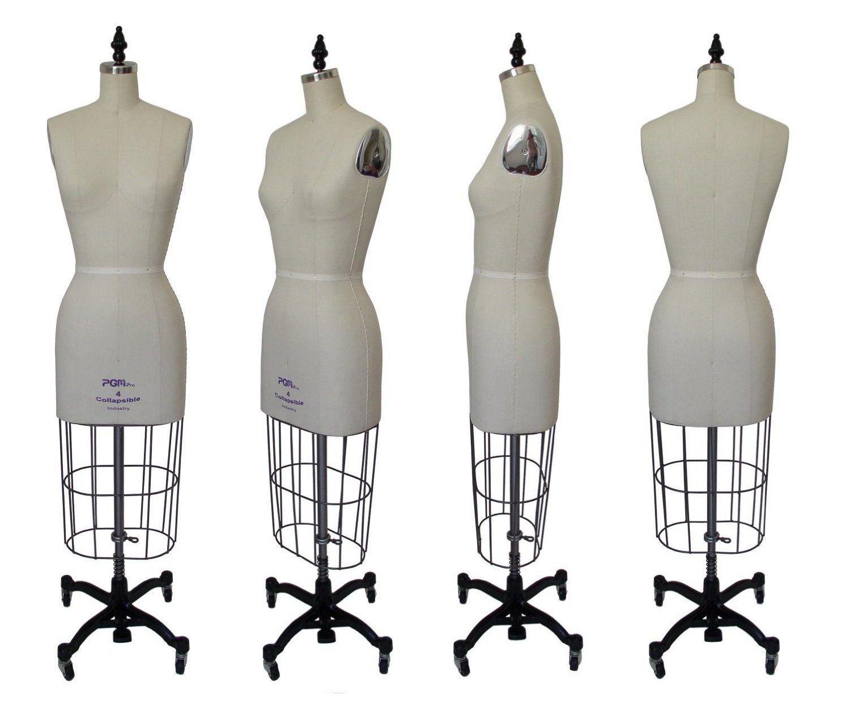 Dress Form Size 12 w// Collapsible Shoulder /& Hip Professional Female Dress Form