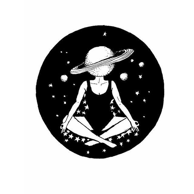 Meditação 3/3: elevação. 🌞 . #illustration #ilustração #ilustracion #ilustra…