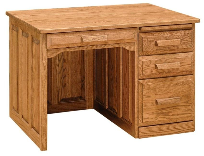 Amish Office Furniture Classic Single Pedestal Flat Top Desk