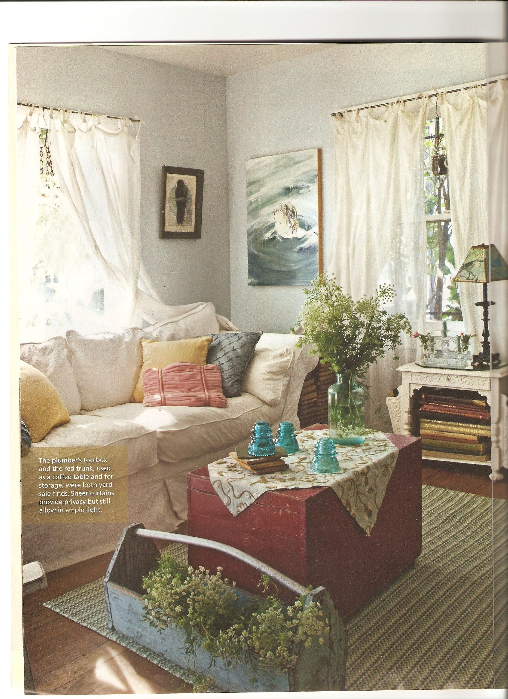 Country Cottage Style Living Rooms | Artist Lynn Hansons ...