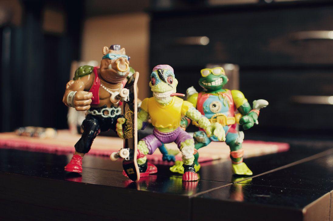 punk rock vintage TMNT toys,