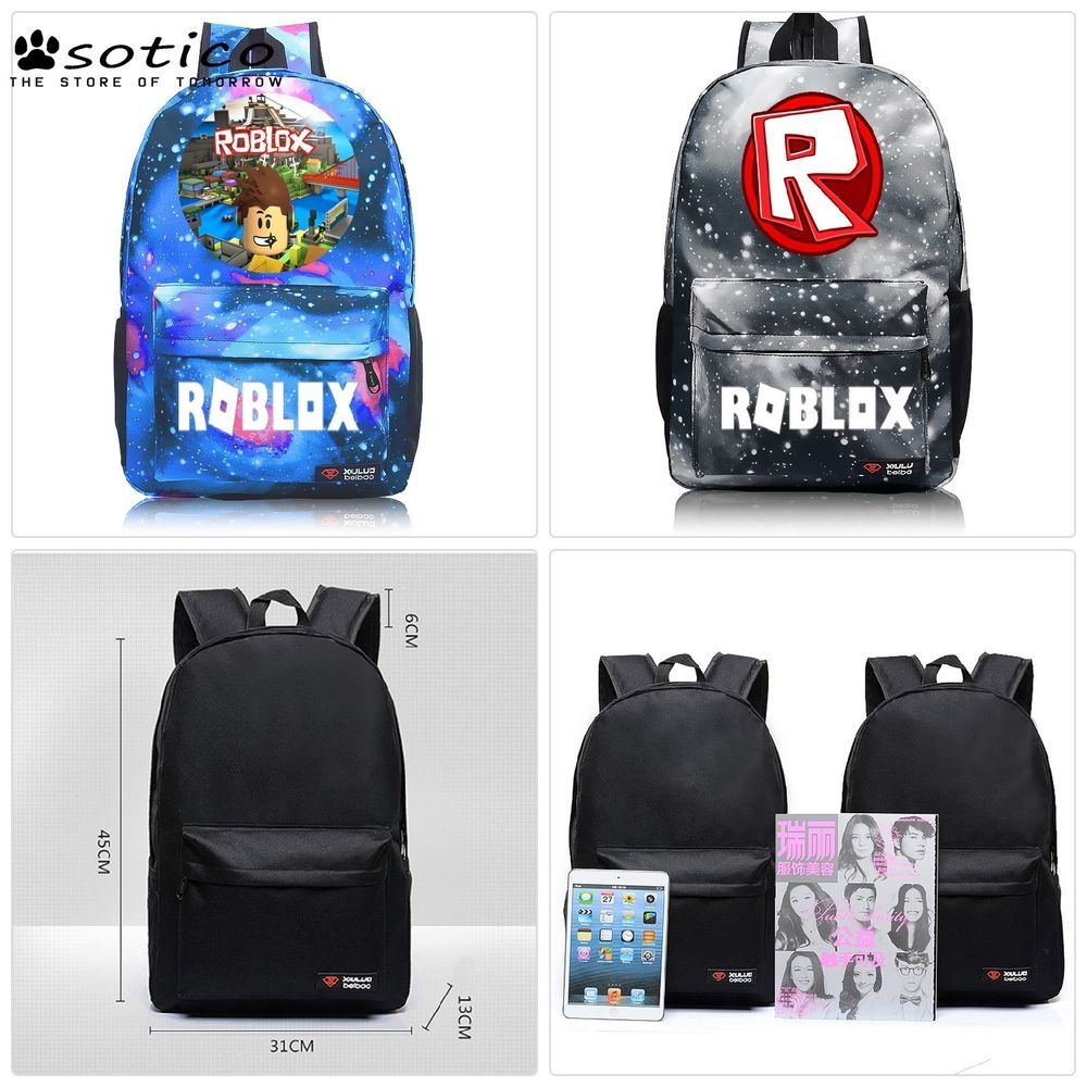 Anime Game Roblox Student School Bags Casual Boys Girls Backpack