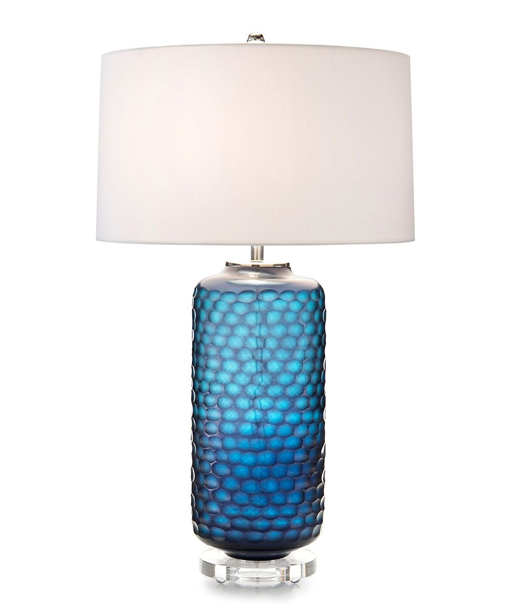 Blue Honeycomb Table Lamp
