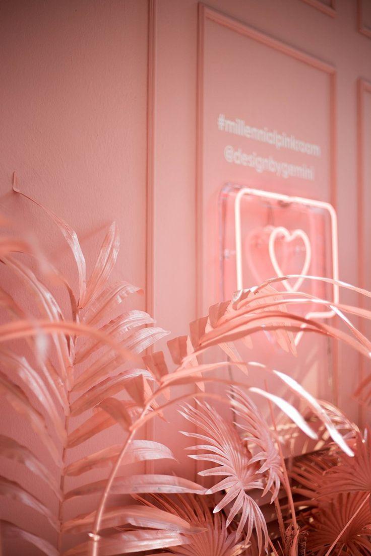 designbygemini paints palm trees in millennial pink at milan design week