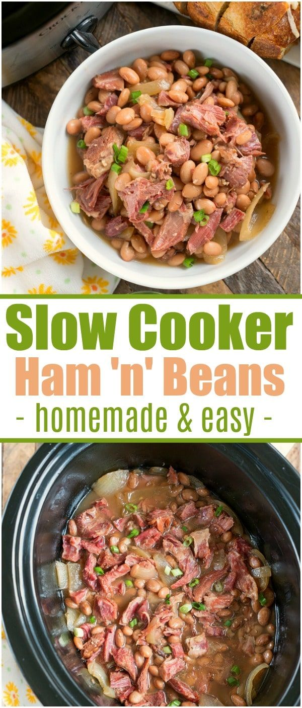 If you're a busy mom who needs a quick meal to make when you're running errands all day, this slow cooker ham and beans recipe gets a thumbs up from us all. AD #slowcooker #hamandbeans #crockpot #crockpotrecipes #thetypicalmom #hamhock via @pinterest.com/thetypicalmom #slowcookerrecipes