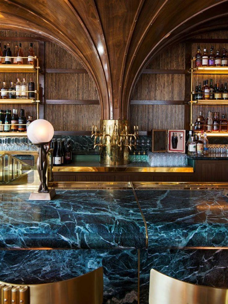 deco bar restaurant marble interior modern dark commercial designs counter luxury rooftop stunning eu