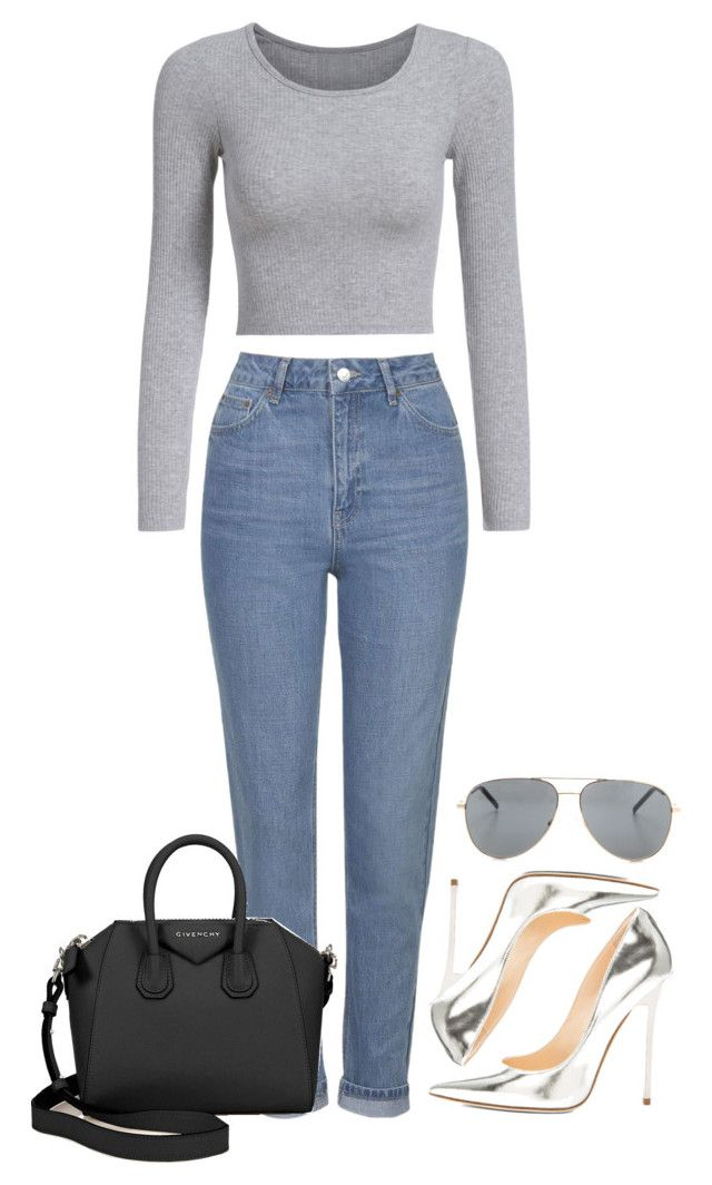 """""""Untitled #47"""" by franxinefiona ❤ liked on Polyvore featuring Topshop, Givenchy, Jimmy Choo and Yves Saint Laurent"""