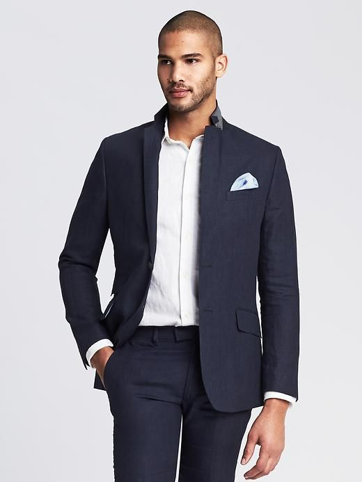Modern Slim Navy Linen Suit Jacket | Gear | Pinterest | Linen suit ...