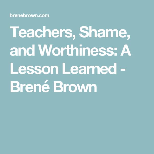 A Teacher's Worthiness