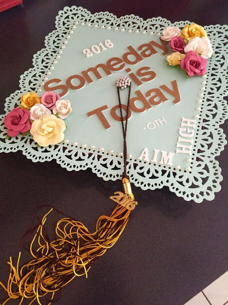 graduation cap 2016 phi sigma sigma aim high one school