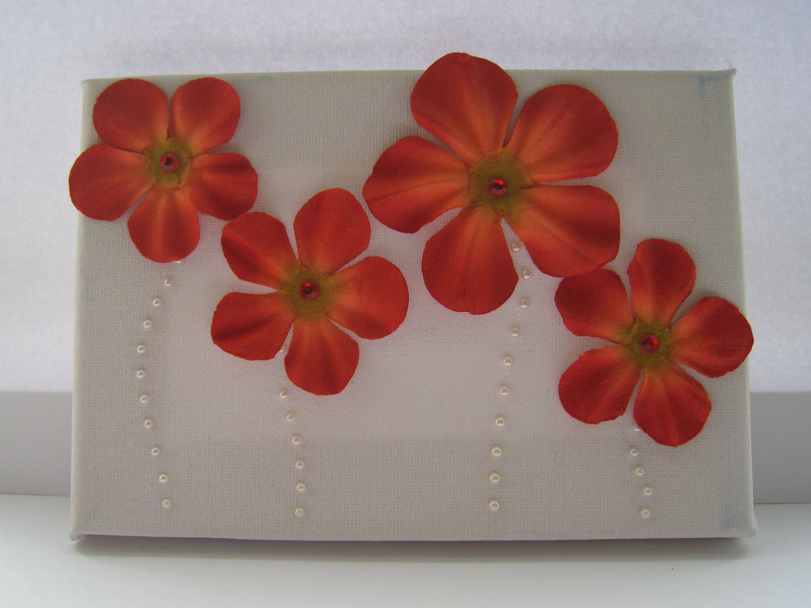 Paper Flower Art On Canvas Ideas For The House Pinterest