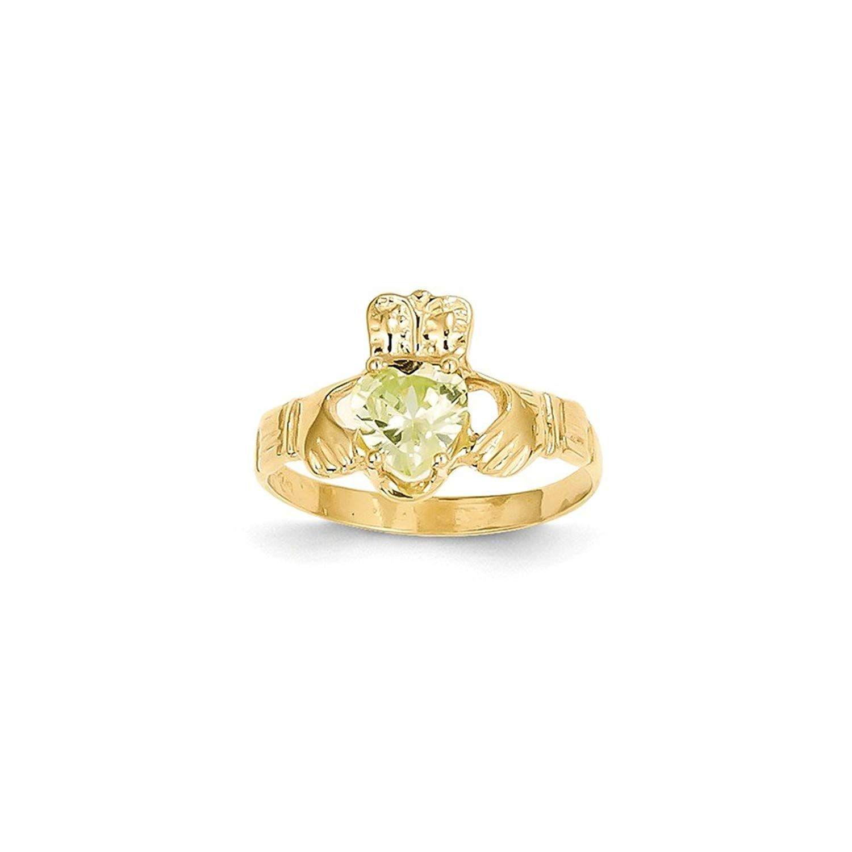 Jewelry Adviser Rings 14k 5mm Heart Peridot ring